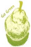 Pear Art Go Green Tee Shirts