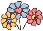 Retro Peace Love and Harmony T-shirts