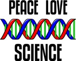 Peace Love Science T-shirts