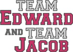 Team Edward and Team Jacob Shirts
