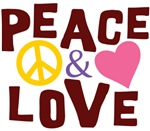 Peace And Love T-shirts ~ Peace and love merchandise for hippies at heart that want to promote the peace and love.