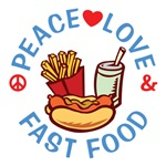 Peace Love Fast Food T Shirts