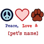 Peace Love Pet Personalized Gifts