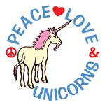 Peace Love Unicorns Shirts