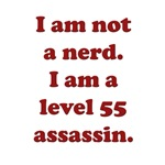 Level 55 Assassin RPG Gamer T-shirts & Gifts