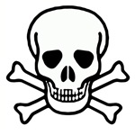 Plain Jolly Roger Skull & Bones T-Shirts & Gifts