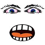 Shocked Eyes Cartoon Face T-Shirt & Gifts