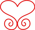 Red Heart Scroll