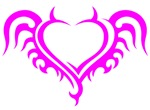 Pink Heart With Horns