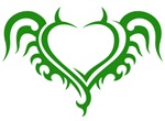 Green Heart With Horns
