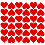 Red Hearts Tile