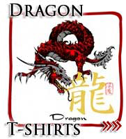 Red Japanese Dragon, Japanese T-shirts
