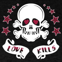 Love Kills Skull T-Shirt