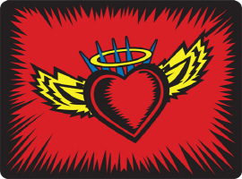 Angel Heart with Wings and a HALO