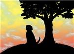 Groomer Humor: Dog at Sunset