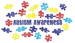 Autism Awareness Puzzle Pieces Scattered