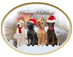 Labrador Retriever Group Chrismas