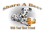 Dalmation Shares A Beer