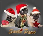 Three Pug Santa's apparel