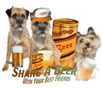 Cairn Terrier Share A Beer