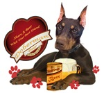 Doberman Share A Beer