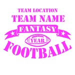 Personalized Fantasy Football Hot Pink