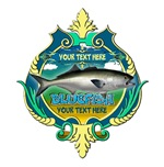 Personalized Blue Fish Trophy