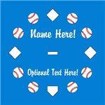Personalized Baseball Blue Diamond