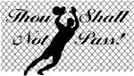 goalie keeper thou shall not pass