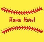 Your Name Softball Personalized
