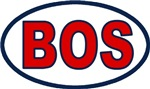 Boston Oval Stickers