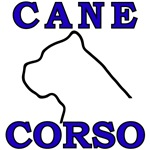 Cane Corso Logo Blue
