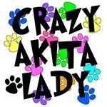 Crazy Akita Lady