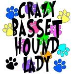 Crazy Basset Hound Lady