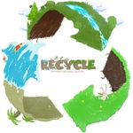 Recycle Vintage Print