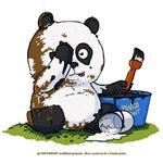 Panda painted bear