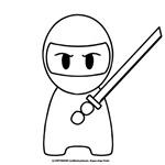 Ninja Yoshi illustration print