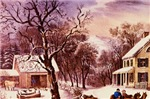 Curry  Ives American Homestead Winter