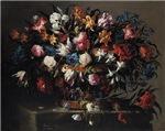 Juan de Arellano Small Basket of Flowers