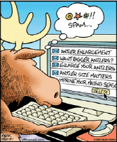 We sell computer, s*x spam, and moose humor cartoons on t-shirts, mugs, and more. Great gift ideas for all your friends and family's birthdays, holidays, anniversaries and special occasions.    This great Off the Mark humor cartoon is perfect for the comp