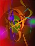 Luminous Brown Digital Abstract Art