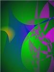 Dark Green Abstract Painting