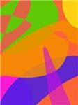 Orange Based Abstract Art