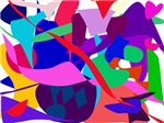 Colorful Abstract Flock
