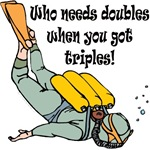 Who needs doubles when you got triples!