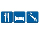 EAT SLEEP DIVE ROAD SIGN