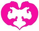 Dachshund Heart in Pink