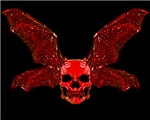 RED DEVIL BAT SKULL