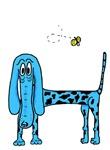 Blossom Blue Dog