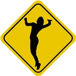 Volleyball Crossing Sign (Woman)